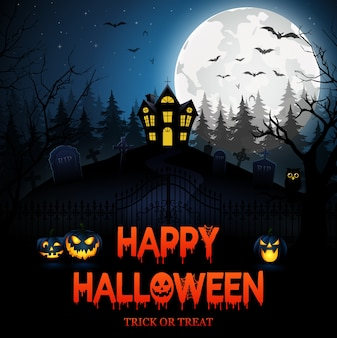 Happy halloween.vector illustration