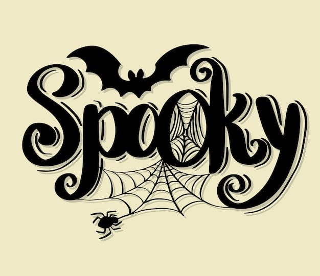 Happy halloween vector lettering holiday calligraphy.
