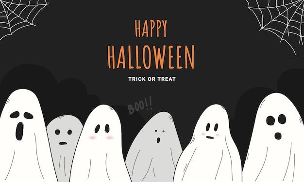 Happy halloween wallpaper background design