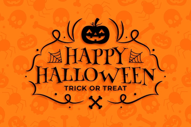 Happy halloween wallpaper design
