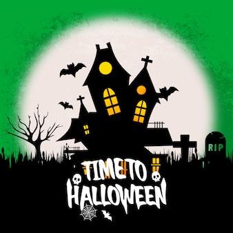 Happy halloween with creative design vector