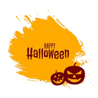 Happy halloween with scary pumpkins  card