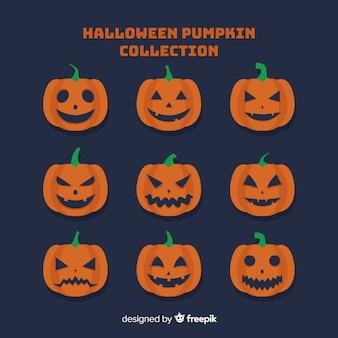 Happy halloween тыква лица коллекция