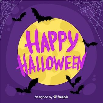 Happy halloween надписи в ночь полнолуния