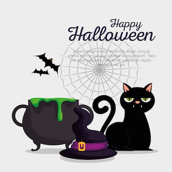 Happy halloween комплект украшений
