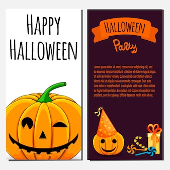 Шаблон приглашения на вечеринку happy halloween