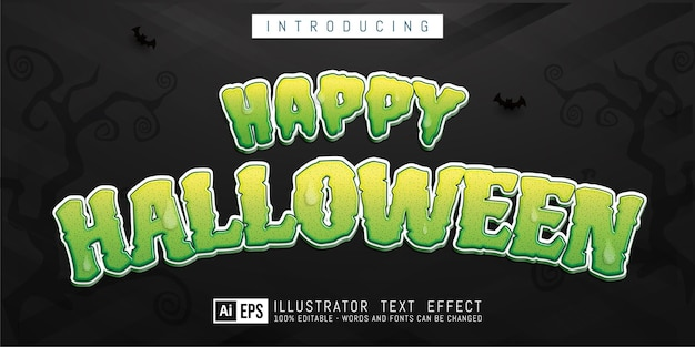 Happy hallowen editable text style effect suitable for halloween banner event theme