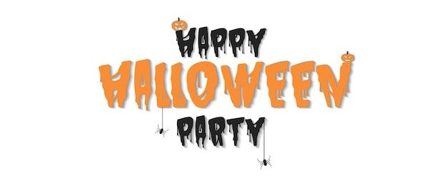 Happy hallowween party vector illustration
