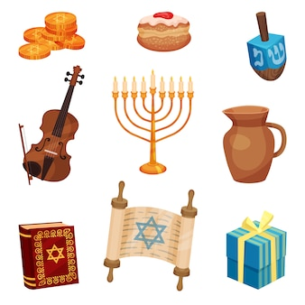 Happy hanukkah concept. jewish traditions and culture.