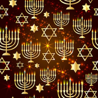 Happy hanukkah shining background