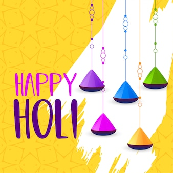 Happy holi abstract colors background