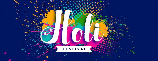 Happy holi abstract festival colorful background