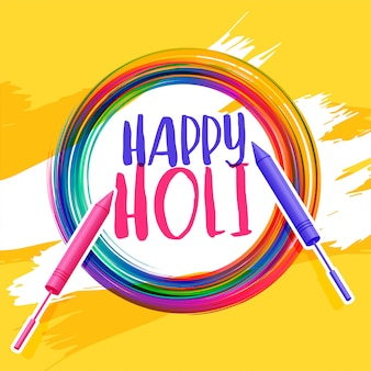 Happy holi abstract pichkari background