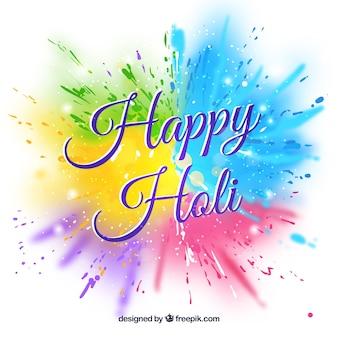 Happy holi background in flat design