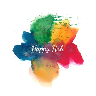 Happy holi background with colorful splashes