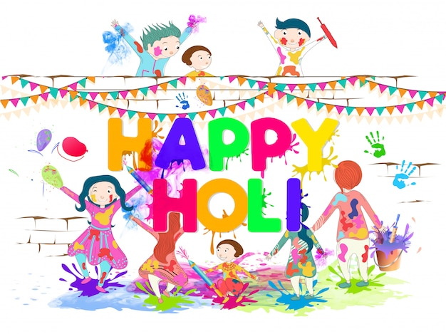 Happy holi background.