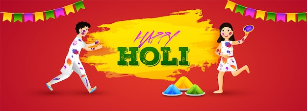 Happy holi banner.
