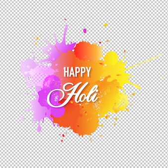 Happy holi card with blobs shape