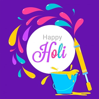 Happy Holi celebration design.