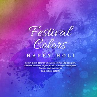 Happy holi celebration indian festival of colours