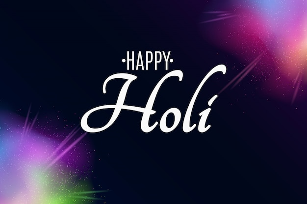 Happy holi. explosion of colors. multicolor spray. colorful fog dust.