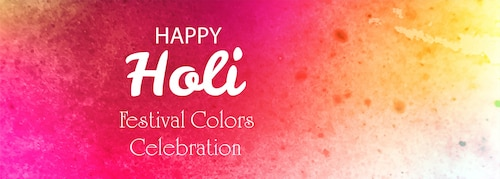 Happy holi festival colorful banner background