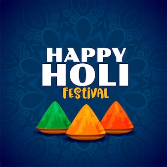 Happy holi festival of colors abstract background