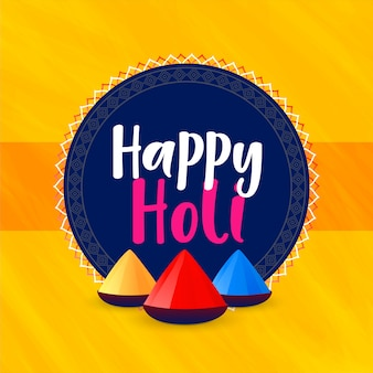 Happy holi festival greeting background