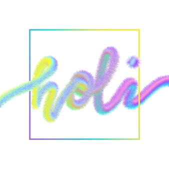 Happy holi greeting card template.