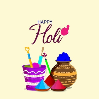 幸せなホーリーヒンドゥー教のインドのお祭りの背景