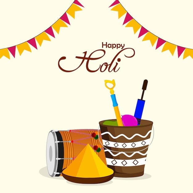 Счастливый холи индуизм фестиваль празднования фон
