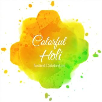 색상 배경의 해피 홀리 인도 봄 축제