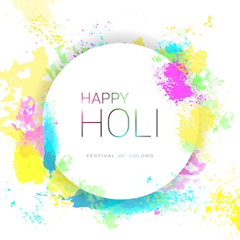 Happy holi religious india holiday traditional celebration greeting card