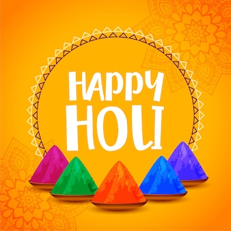 Happy holi stylish yellow festival background