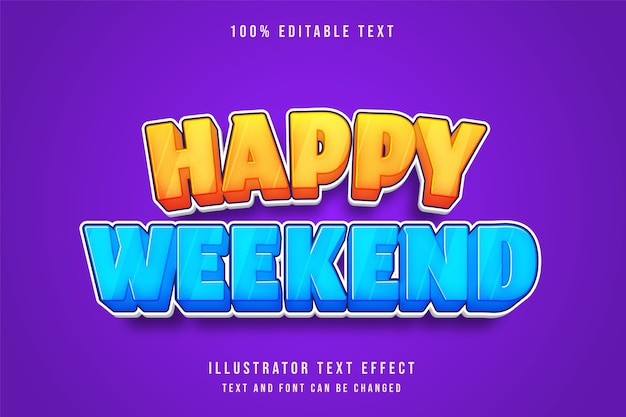 Happy holiday, 3d editable text effect.