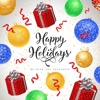 Happy holiday calligrafico lettering