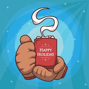 Happy holiday hot chocolate