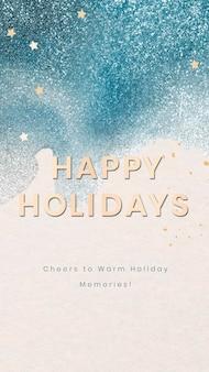 幸せな休日の電話の壁紙テンプレート、クリスマスシーズンのデザインベクトル