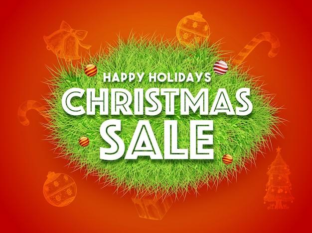Happy holidays christmas sale background.