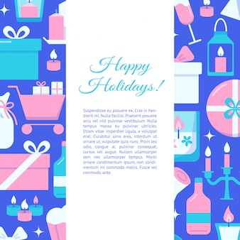 Happy holidays concept banner