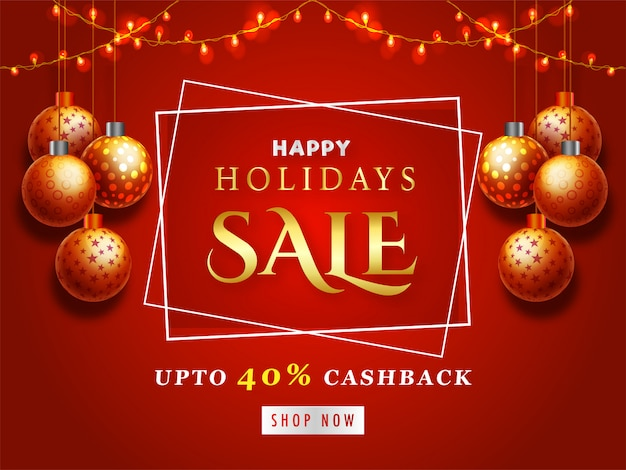 Happy holidays sale.