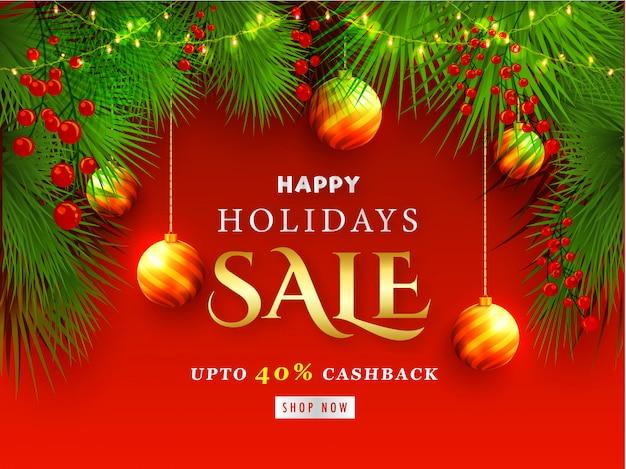 Happy holidays sale.