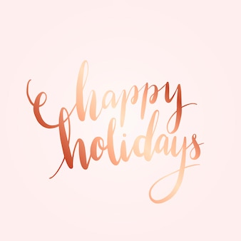 Happy holidays typography style vector