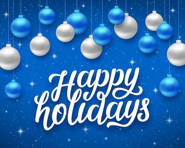Happy holidays. vector card with season greetings