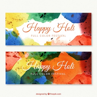 Happy holly festival banners