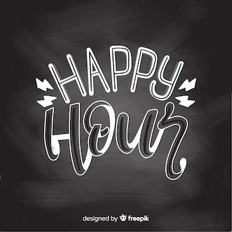 Happy hour event lettering