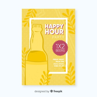 Happy hour poster with party event