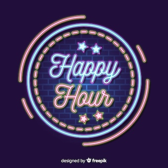 Happy hour sales offer template
