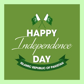 Happy independence day 14 august pakistan greeting card