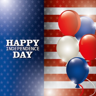 Happy independence day 4th july celebration in united states of america